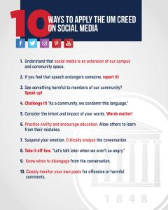 10 Ways to Apply the UM Creed on Social Media